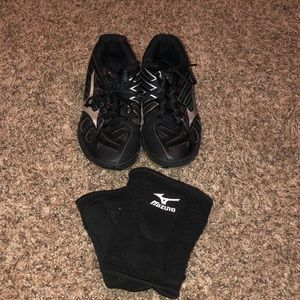 volleyball shoes and knee pads